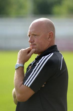 Ready: Carshalton Athletic boss Stuart Massey