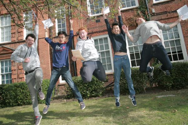 Isaac Jarratt Barnham, Michael Moore, Jack Bazalgette, Nicholas Wong, and Ben Delchiappo, all 18, from Tiffin School. Picture: Jon Sharman