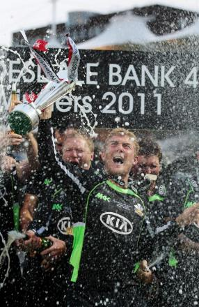 Back then: Rory Hamilton-Brown lifts the Clydesdale Bank 40 trophy in 2011 – Surrey's last limited overs silverware