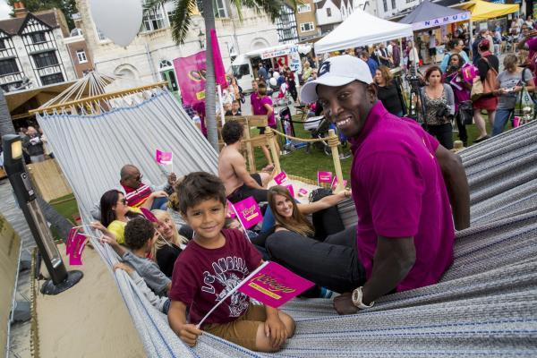 Dwight Yorke hangs out in Kingston to promote his native Tobago