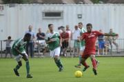 Goal man: Jamal Alexander hit a brace in Carshalton Athletic's 5-1 FA Cup at Mole Valley SCR on Saturday