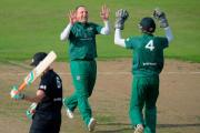 Good start: Ashtead's Paul Cohen celebrates a wicket in Tuesday's T20 semi-final win over Peterborough Town