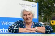 Maureen Wilkins started volunteering at Kingston Hospital one year after her husband Bob died