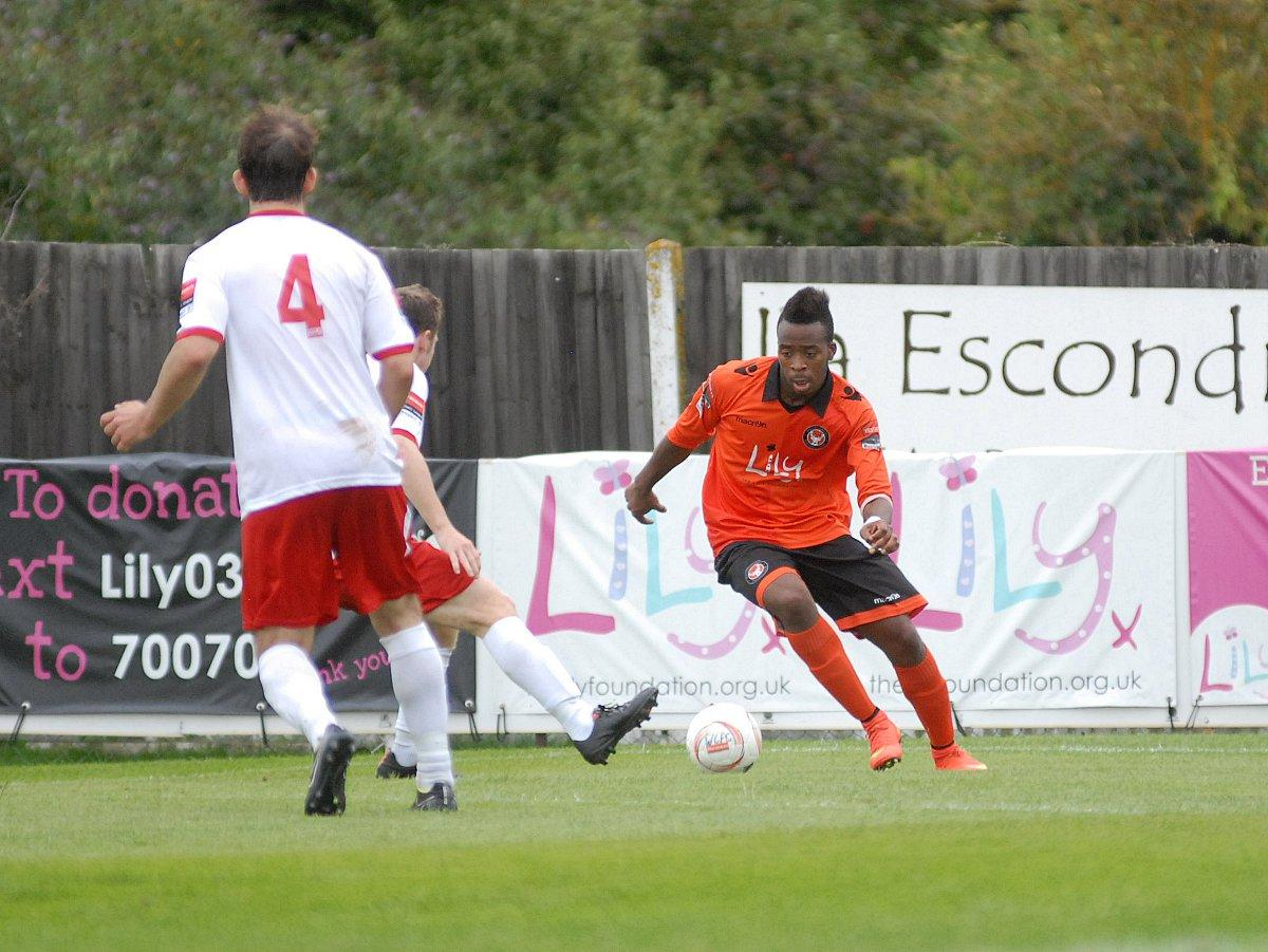 On his way: Tricky winger  Malik Ouani has returned to parent club Welling United