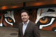 Kevin Zuchowski-Morrison is opening his gallery in St George's Walk, Croydon. The tiger eyes were painted by artist Jnasher
