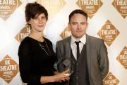 Lucy Osborne and James Grieve accept the award for Best Touring Production. Picture: Pamela Raith Photography