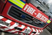 Esher firefighters spent an hour tackling a car fire in Fleetside, West Molesey