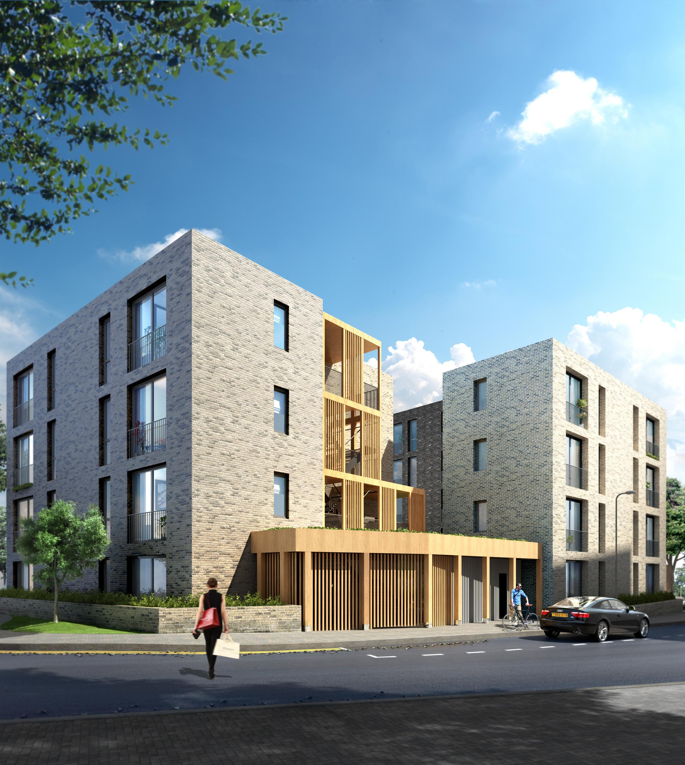 A rendor of another Pocket development in east London