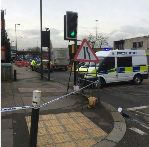 Police are dealing with the discovery of a suspected World War II mortar near B&Q in New Malden. Picture: Kingston police