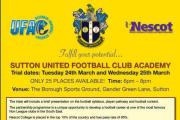 Fancy yourself as a footballer: Sutton United and the Ultimate Football Academy are looking for the stars of tomorrow