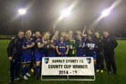 Champions: AFC Wimbledon Ladies - winners of the Surrey County Cup