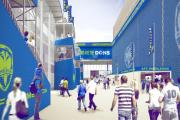 An artists' impression of the main concourse. Picture: AFC Wimbledon