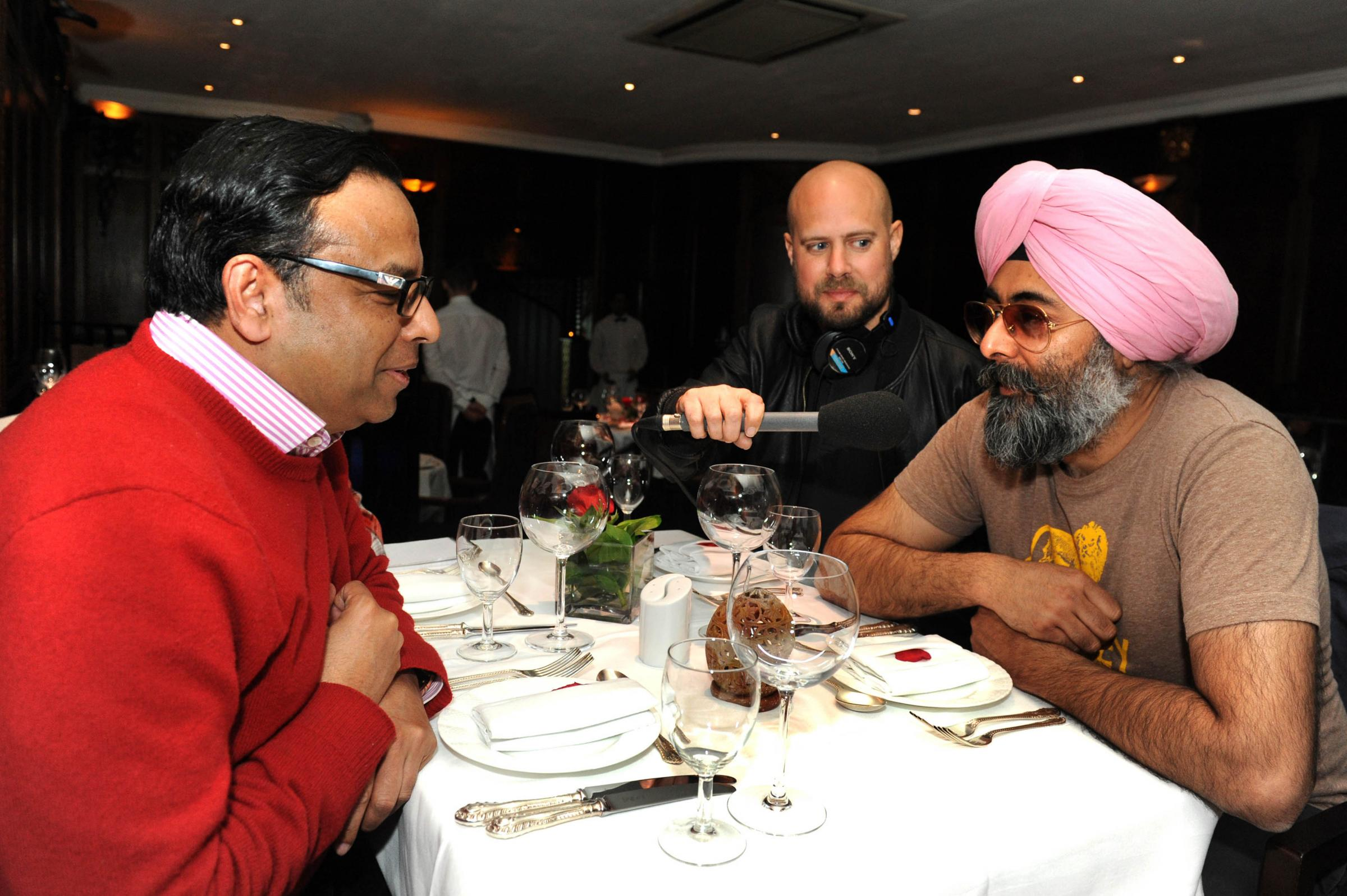 Comedian, journalist and chef Hardeep Singh Kohli interviews Indian restaurant owner