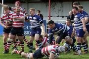 Over the whitewash: Sam Shires scores for Park but it would not be enough         All pictures: David Whittam