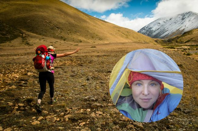 Anna McNuff crossing the epic New Zealand landscape