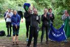 Cheering them on: Friends and family line the route of the men's Surrey League meeting         All pictures:  Staph Ousellam