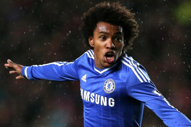 Most important yet: Willian's excellent free-kick in Chelsea's Champion League win over Dynamo Kiev on Wednesday night led to a Stamford Bridge standing ovation for Jose Mourinho