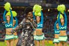 Entertainment: X Factor finalist Misha B performs at Big Game 4