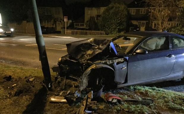 Worcester Park drunk BMW driver Harry Sullivan who destroyed two