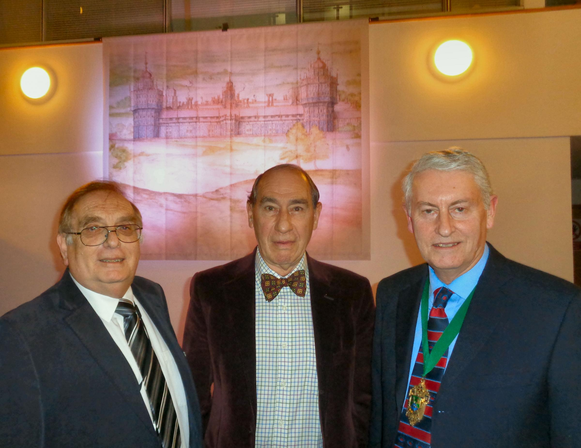 L-R: Mike Teasdale (the Chairman of Nonsuch Park Joint Management Committee), Dr Tim Carter (Lord of The Manor of Nonsuch) and Chris Frost (Mayor of Epsom & Ewell) (53897034)