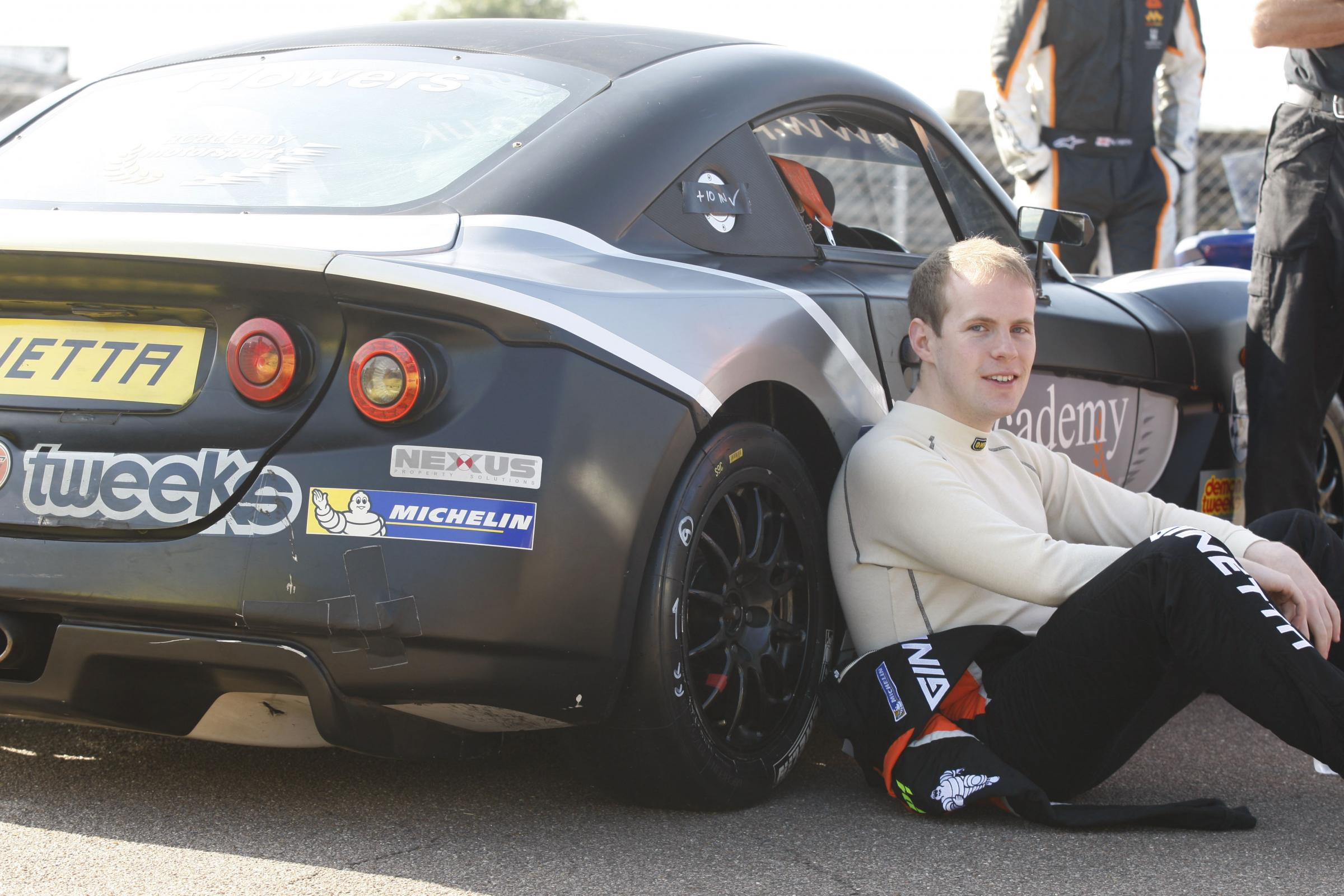 Return to action: After a year out, Matt Flowers is back behind the wheel for the Protyre Motorsport Ginetta GT5 Challenge