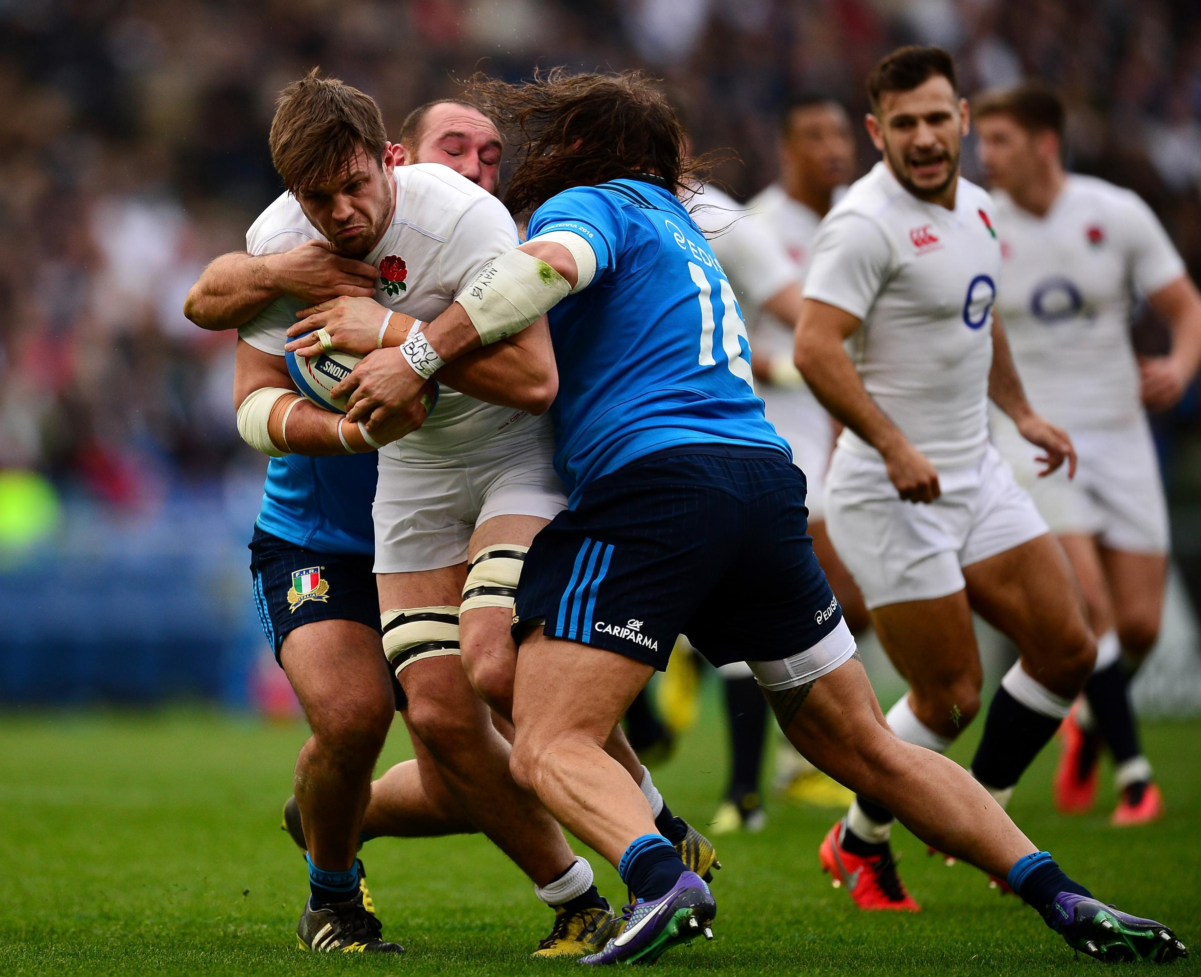For his buddy: England's Jack Clifford, in action against Italy during the RBS Six Nations, is a new patron of cardiac charity CRY in memory of his friend         Picture: Getty Image