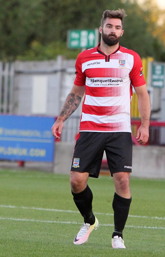 Back in the goal groove: Kingstonian striker Ryan Moss scored his first league of the season for Ks on Monday
