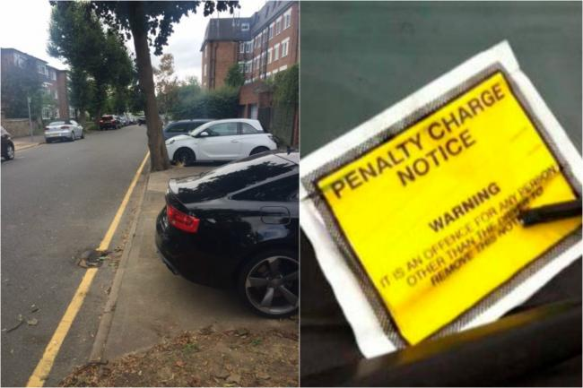 Wardens started handing out tickets to cars parked behind six Cadogan Road houses last Friday