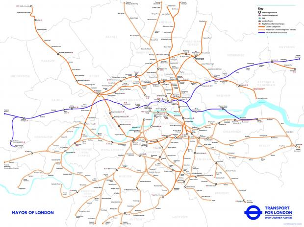 New Map Shows How South London Stations Could Become Part Of - London map train