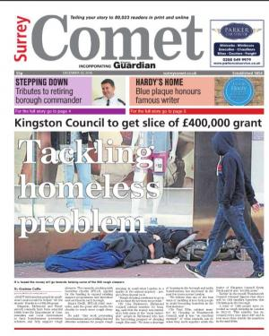 Surrey Comet: The e-newspaper is your weekly copy of your favourite local newspaper delivered to your inbox. Sign up for free here >
