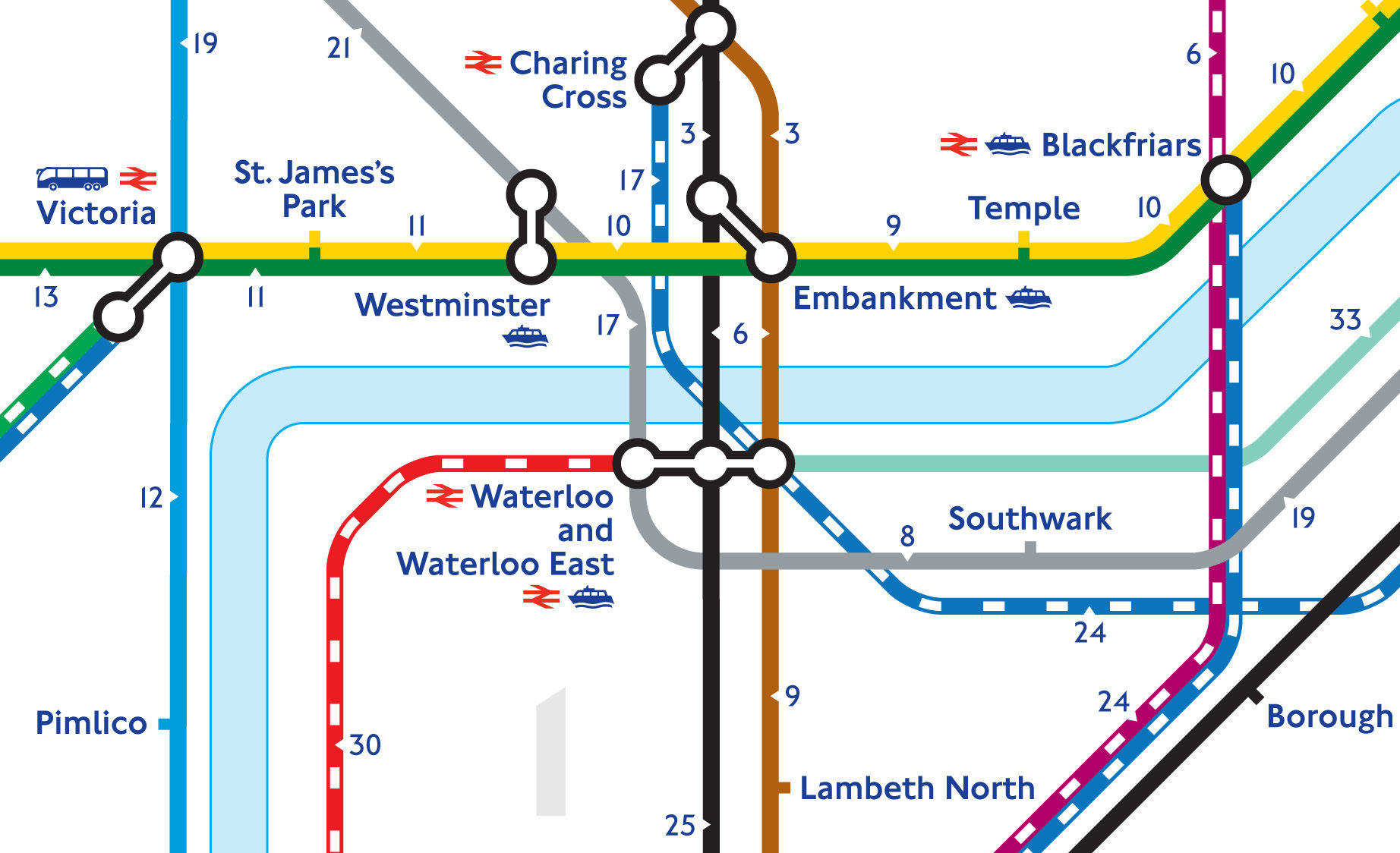 This is how long it takes to walk between Londons tube stations