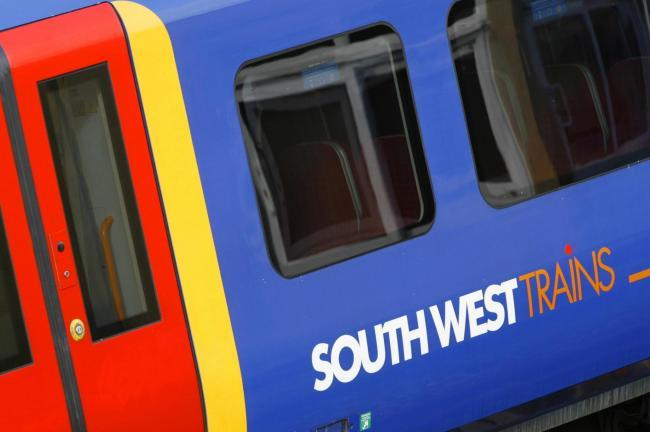 South West Trains delays after fire breaks out on train