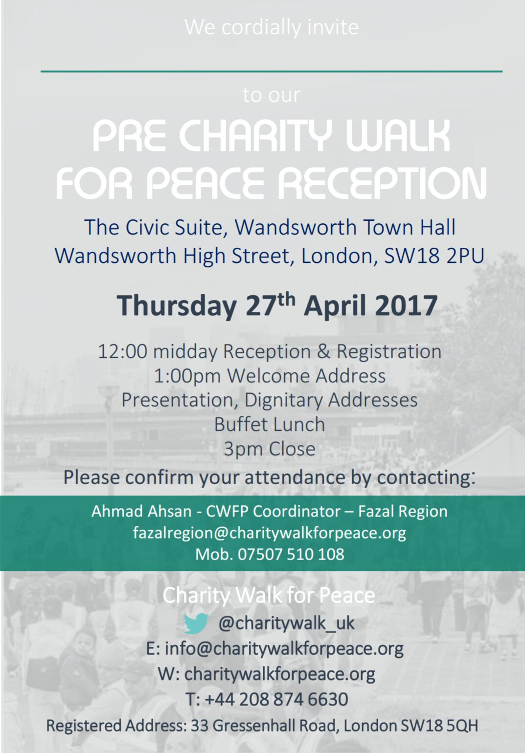 Pre-Charity Walk Reception