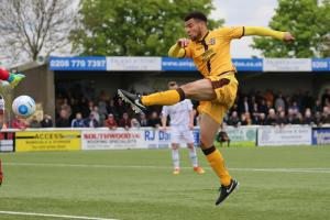 Max Biamou scored four goals over the Easter weekend as Sutton United claimed a win over Gateshead and a draw at Dagenham and Redbridge. Picture: Paul Loughlin