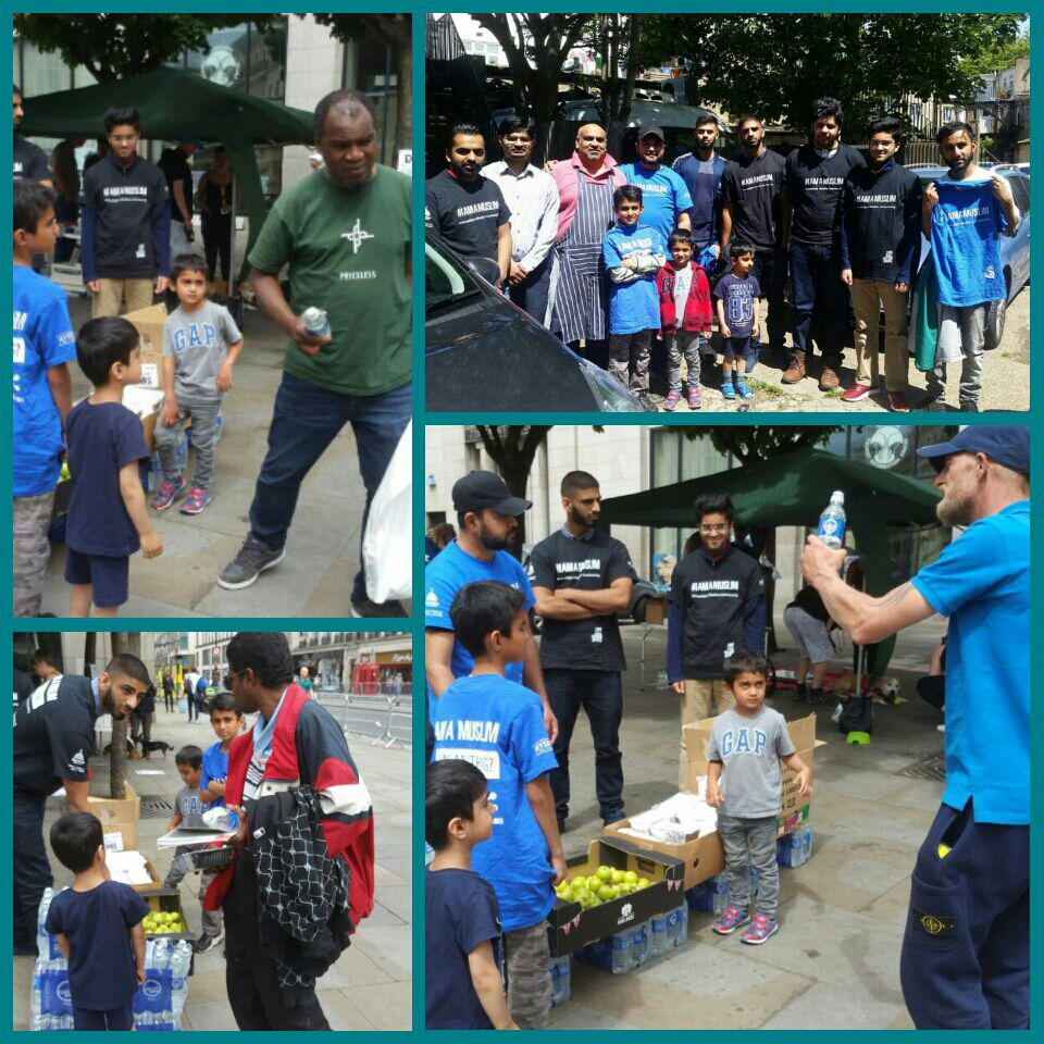 MUSLIM YOUTH FEEDING THE HOMELESS DURING RAMADHAN