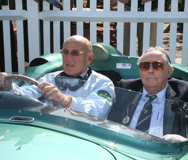 Surrey Comet: Sir Jack Brabham (right) pictured with Sir Stirling Moss