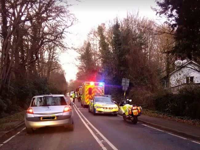 Seven Hills Road was partially closed both ways. Photo: Paul Collins