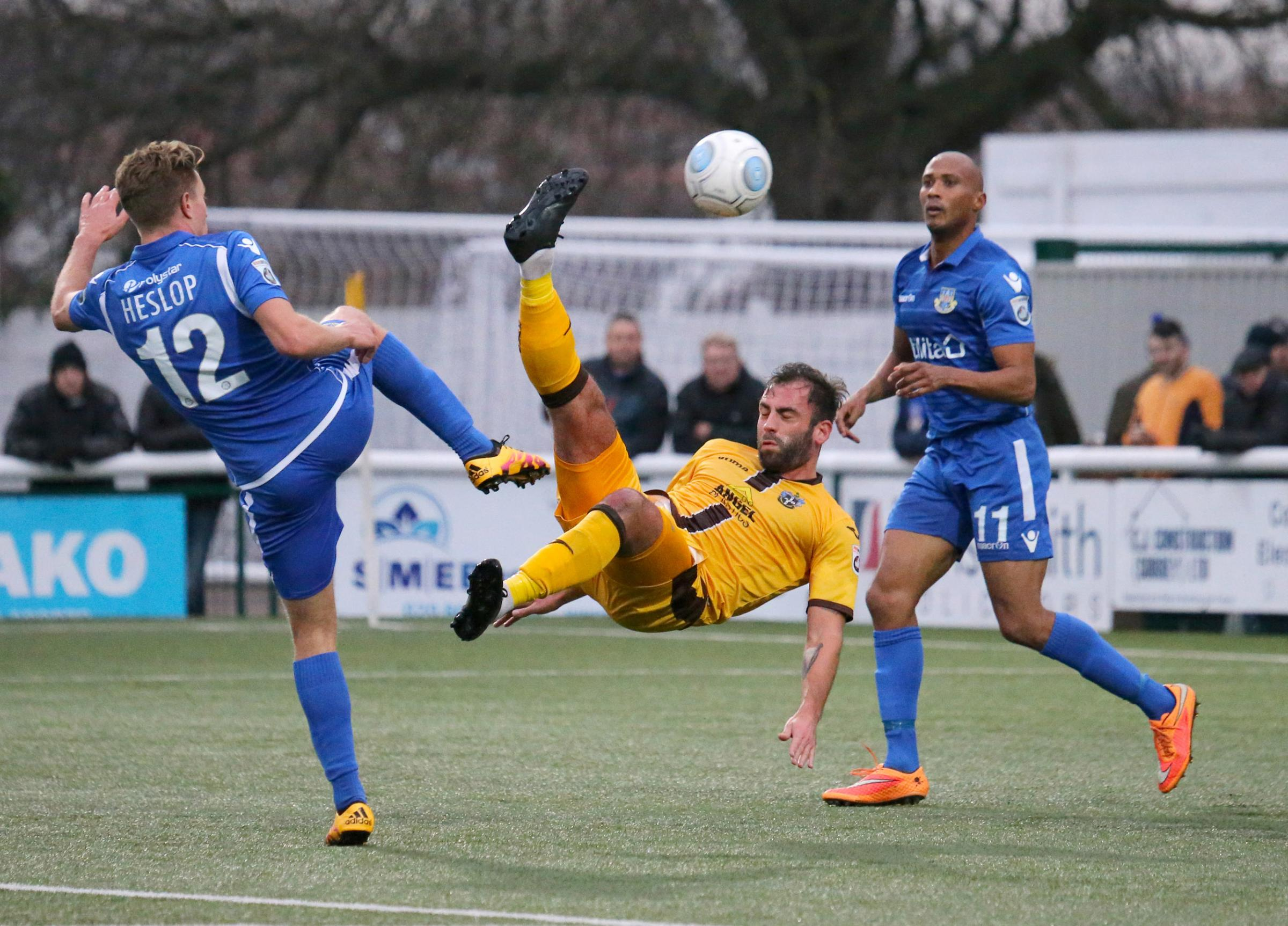 Simon Walton gave an impressive performance as Sutton United won 1-0 at Dover Athletic. Picture: Paul Loughlin