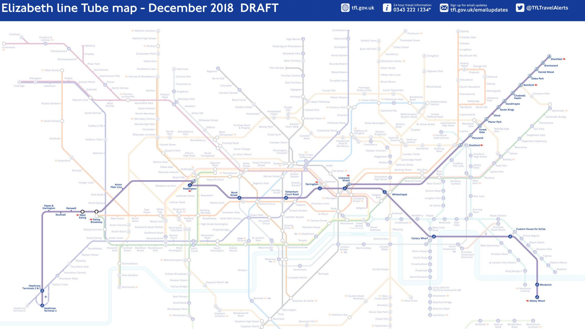 New Tube map marks one year until Elizabeth line launch Surrey Comet