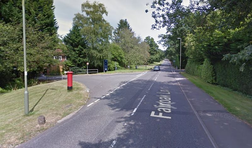 The crash happened at 8.42am in Fairoak Lane. Photo: Google Maps