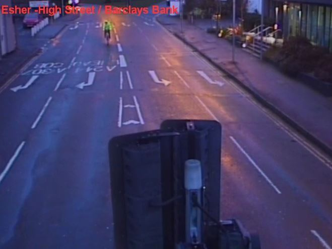CCTV of cyclist accused of indecent exposure