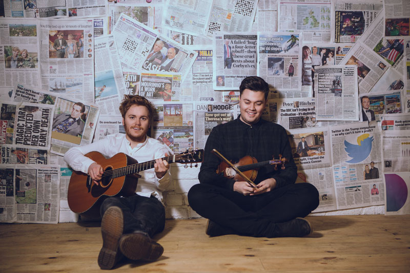 Greg Russell and Ciaran Algar in concert