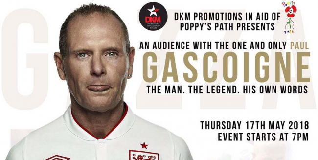 Enjoy An Evening with Paul Gascoigne at Clapham Grand