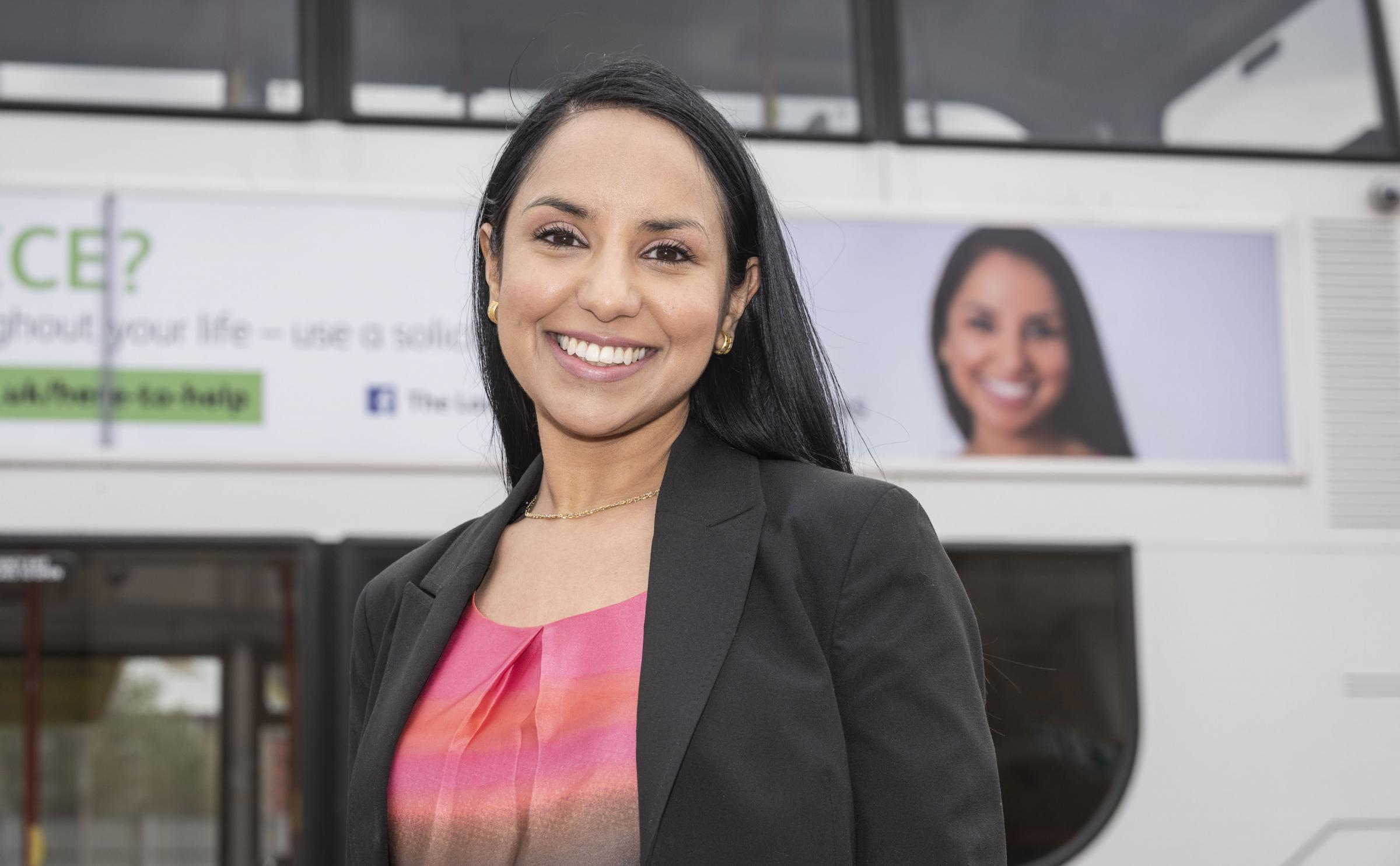 Solicitor Saira Tamboo is the new face of the campaign.