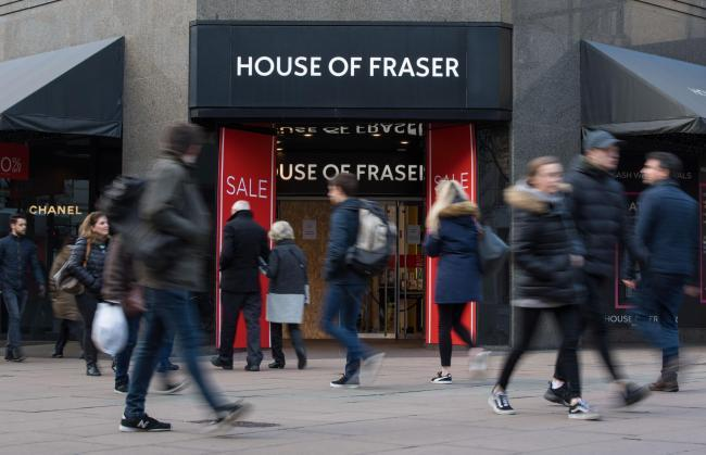 House of Fraser in Epsom is set to close.