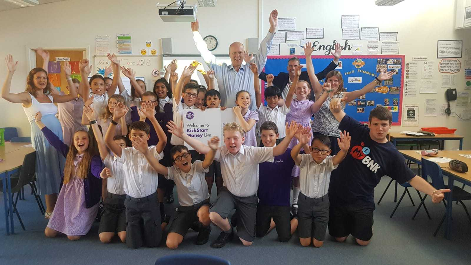 Local MP Chris Grayling visited Southfield Park Primary School