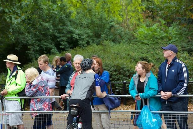 Surrey Comet: Families and friends looked on as their loved ones tackled the grulling course. © Keith Larby/AK Photos