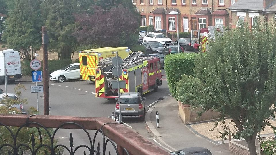 Fire services were called at 10:36 am with reports of a kitchen fire in Tolworth (Image credit: Ian Pilsbury)
