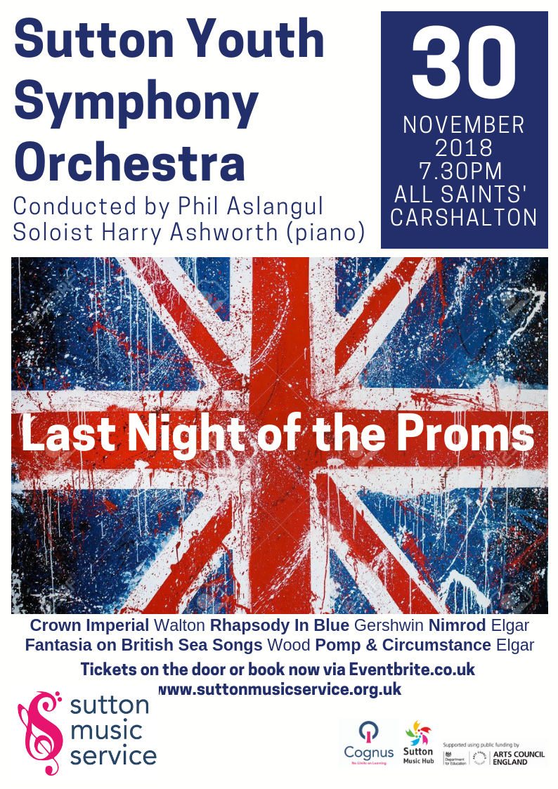 Sutton Youth Symphony Orchestra play music from Last Night of the Proms