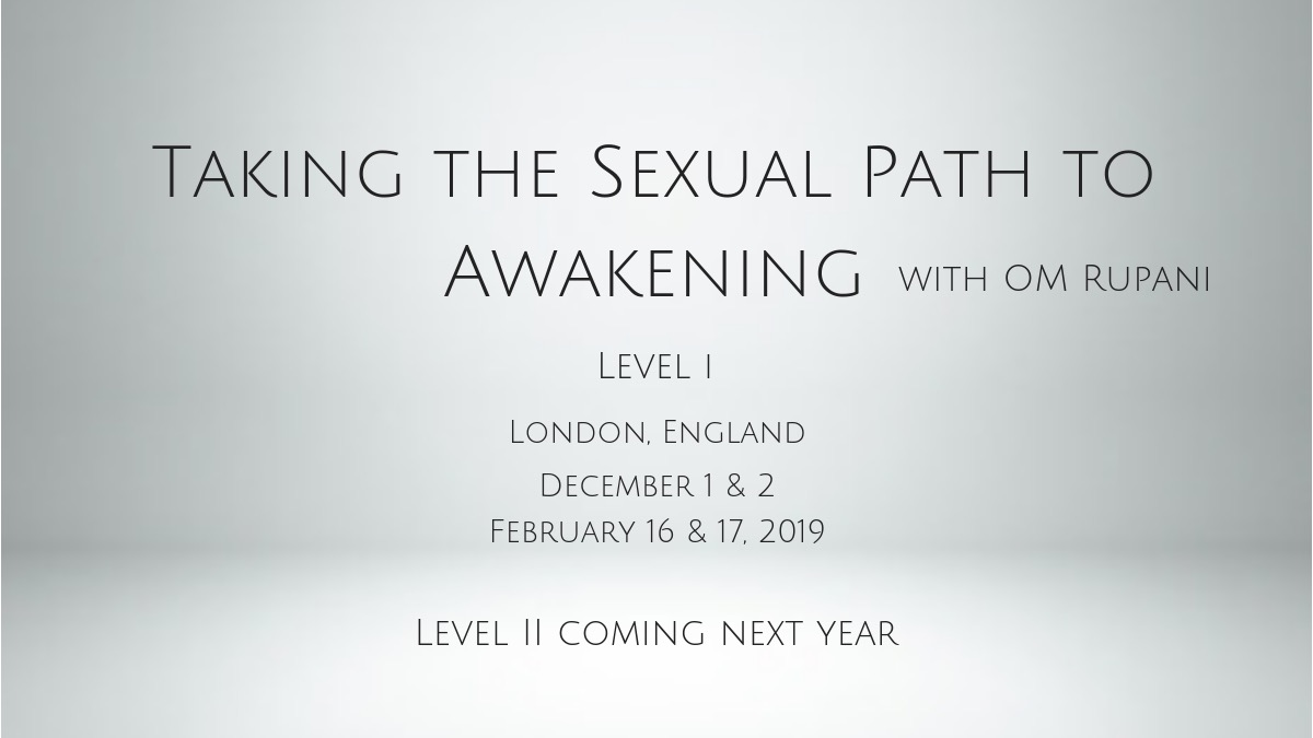 Taking the Sexual Path to Awakening